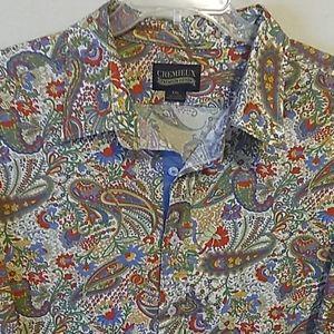 Cremieux Paisley Print Dress Shirt 2XL